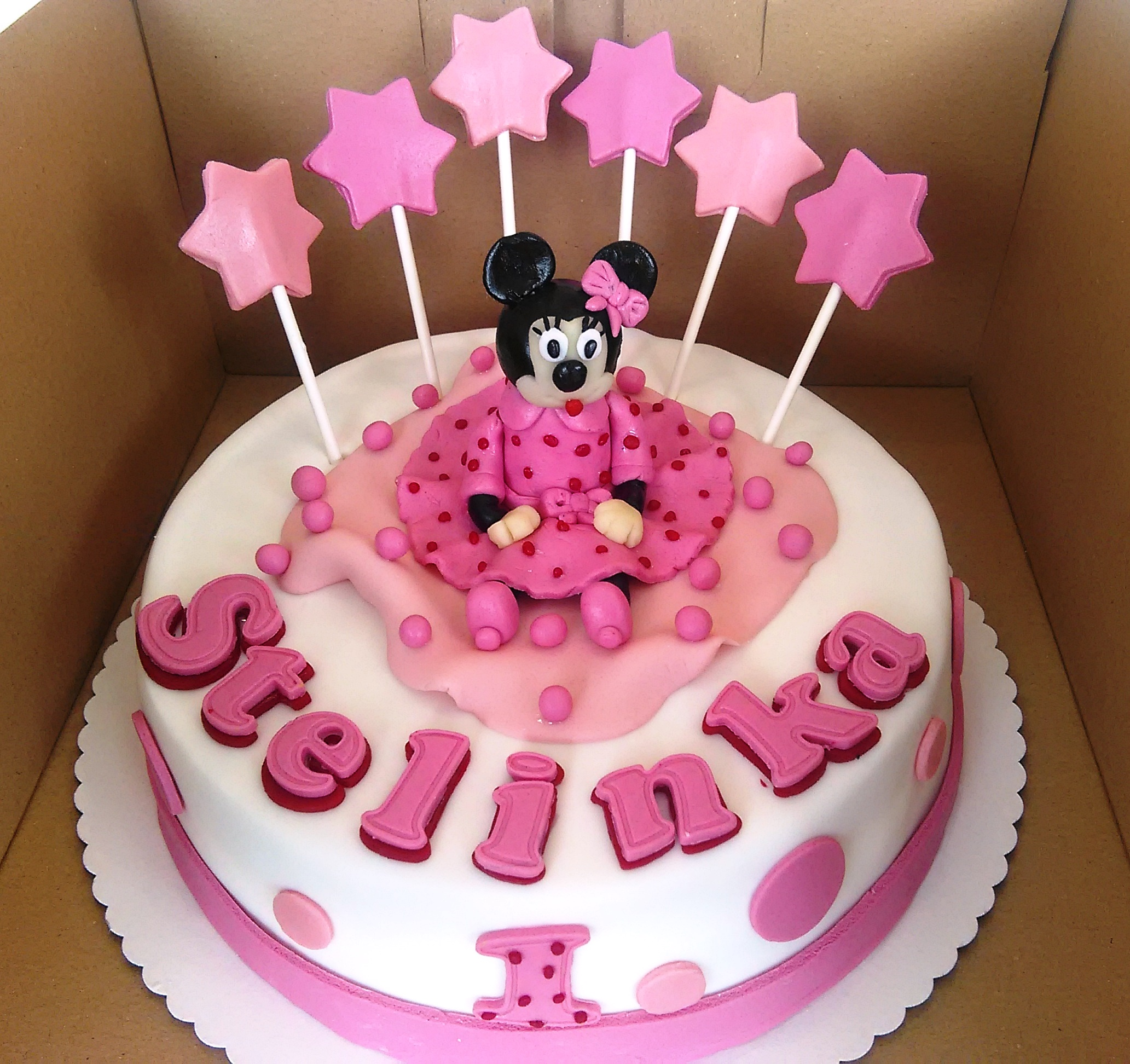 Torta Minnie Mouse balet