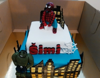 Torta Spiderman & Hulk