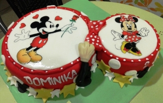 Torta Mickey & Minnie mouse
